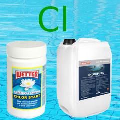 chlorová bazénová chemie